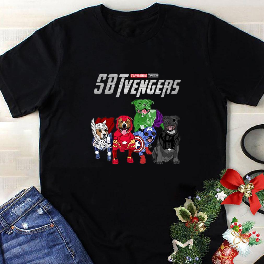 Staffordshire Bull Terrier SBTvengers Avengers Endgame shirt