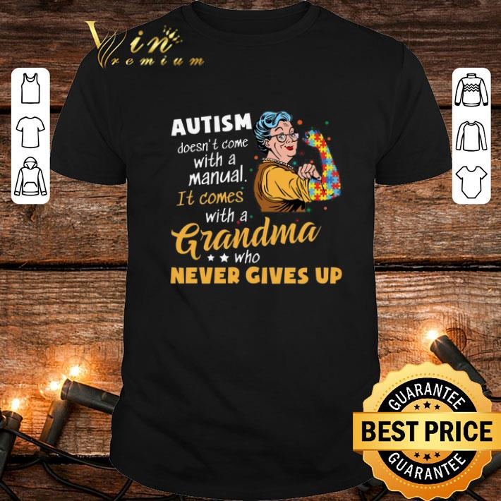 Clickbuypro Unisex Tshirt Strong Grandma Autism Doesnt Come With A Manual It Comes Shirt Sweater Navy 2xl
