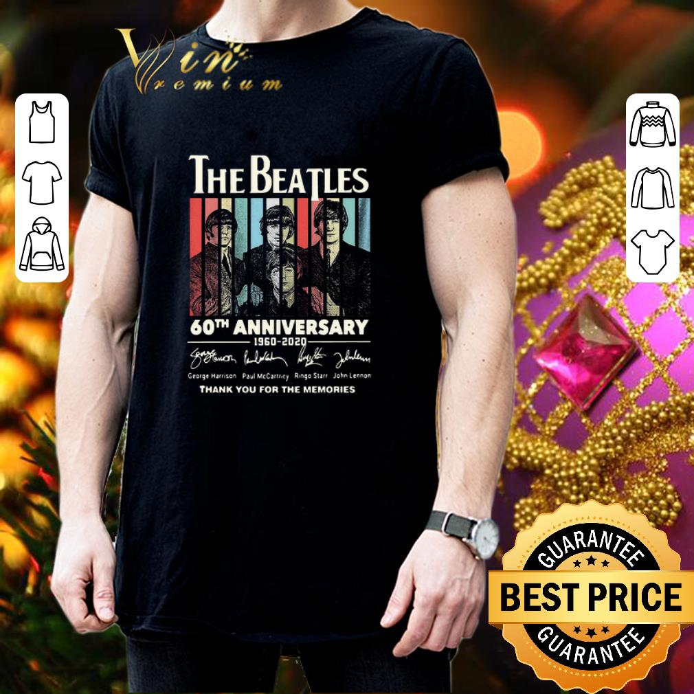 The Beatles 60th anniversary thank you for the memories vintage shirt 3