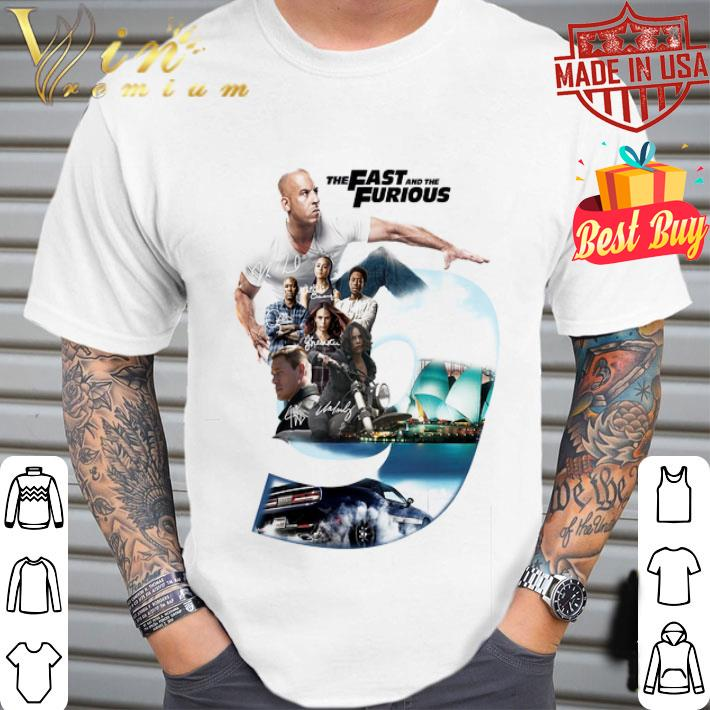 The Fast And The Furious 9 Signatures shirt