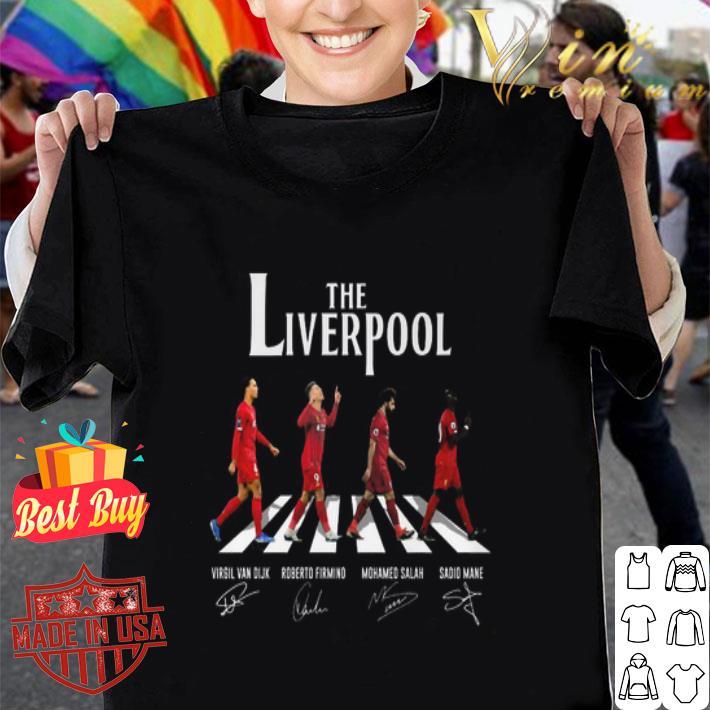 The Liverpool Abbey Road signatures Virgil Van Dijk M. Salah shirt