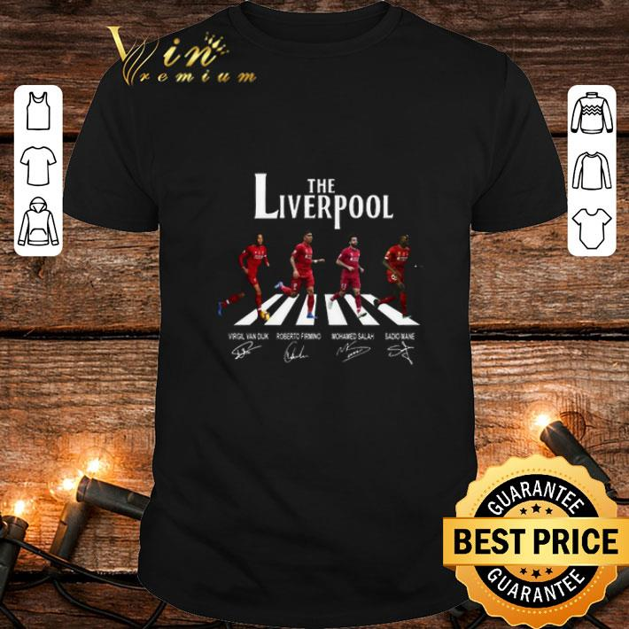 The Liverpool mashup The Beatles Abbey Road signatures shirt 1