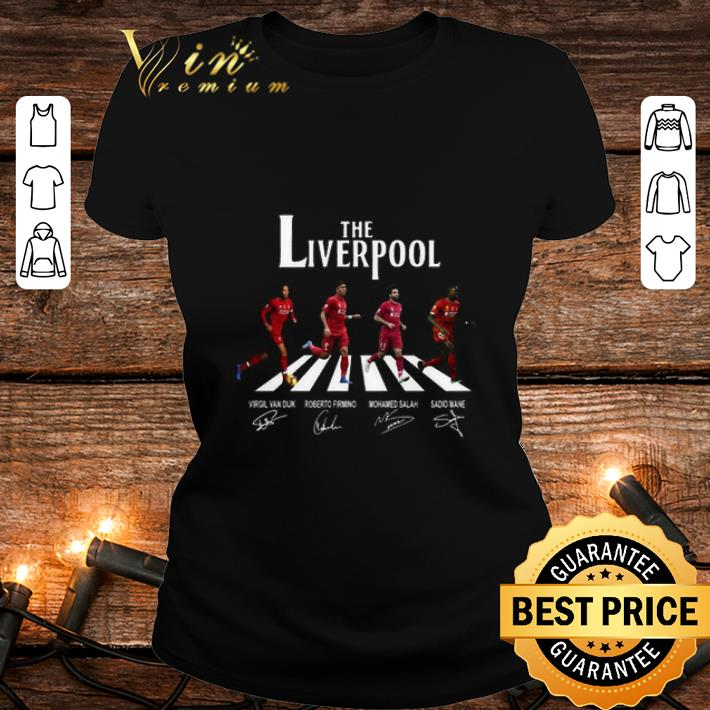 The Liverpool mashup The Beatles Abbey Road signatures shirt 2