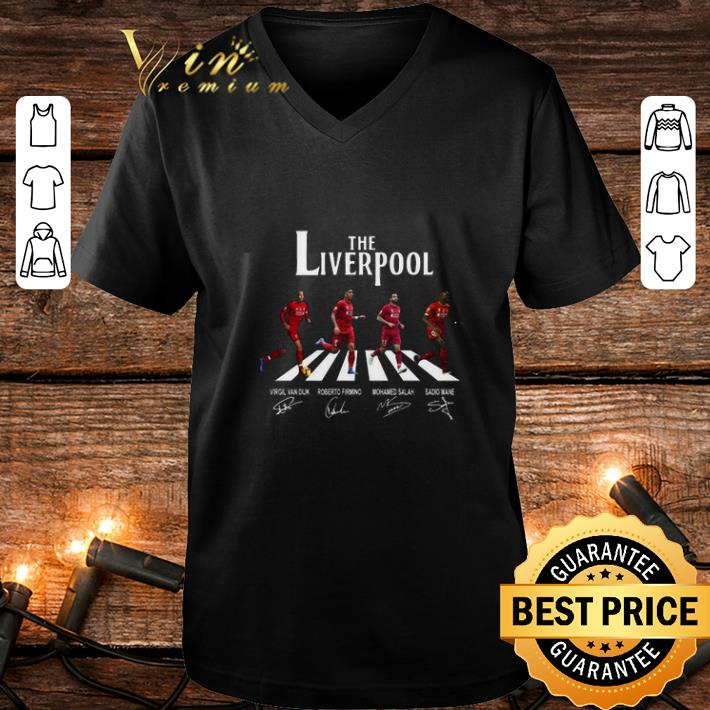 The Liverpool mashup The Beatles Abbey Road signatures shirt