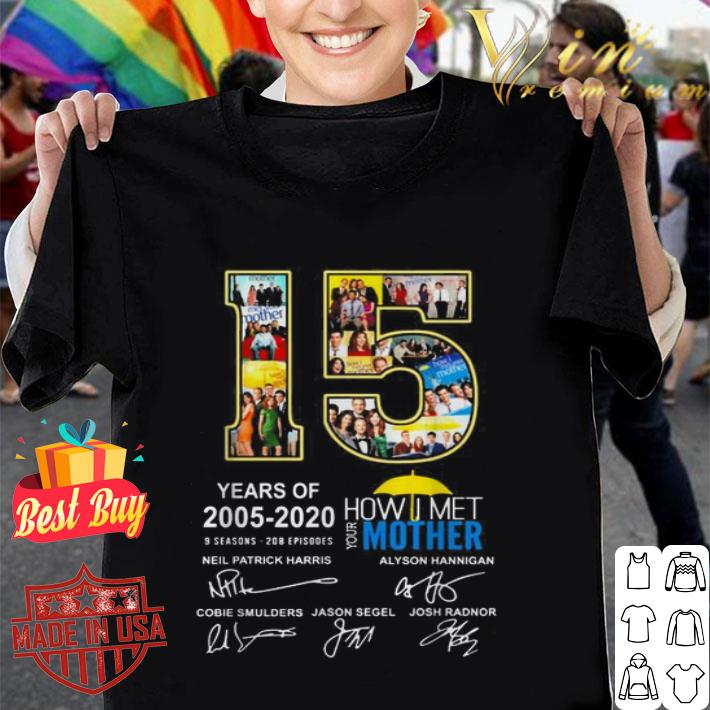 15 years of 2005-2020 How I Met Your Mother 9 seasons signatures shirt