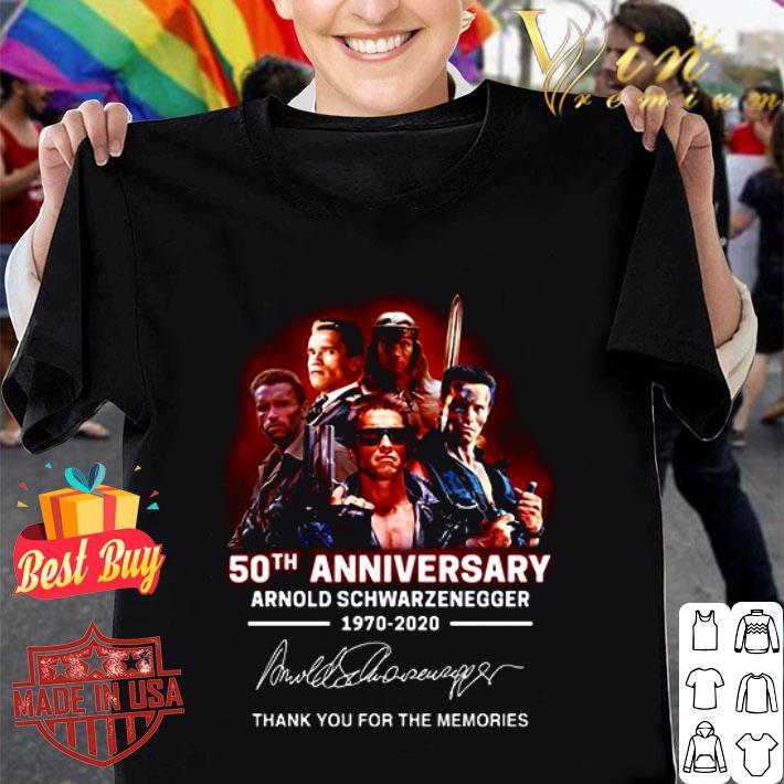 Arnold Schwarzenegger 50th anniversary 1970-2020 The Terminator shirt