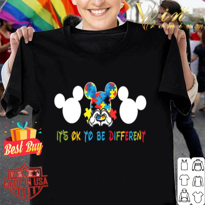 Autism Mickey Mouse It's Ok To Be Different shirt