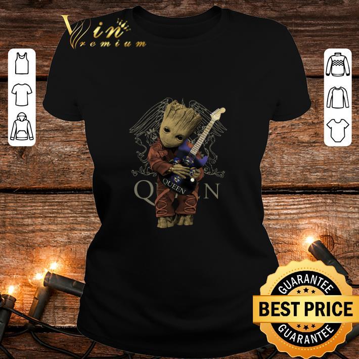 Baby Groot Hug Guitar Queen Marvel shirt