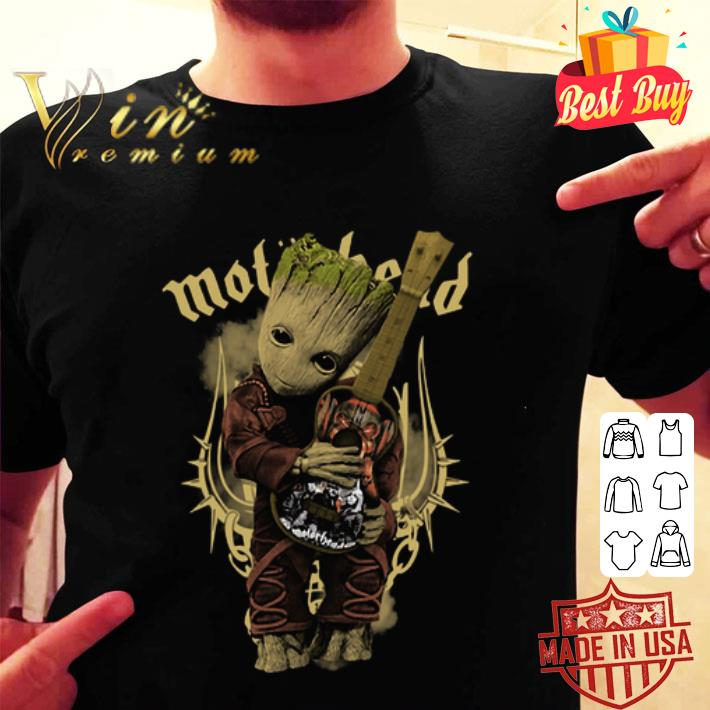 Baby Groot Hug Motorhead Guitar Marvel shirt