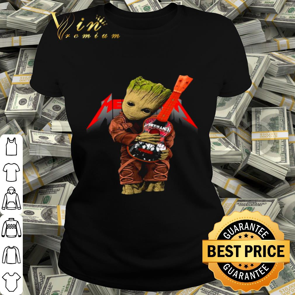 Baby Groot hug logo Metallica Guitarist shirt