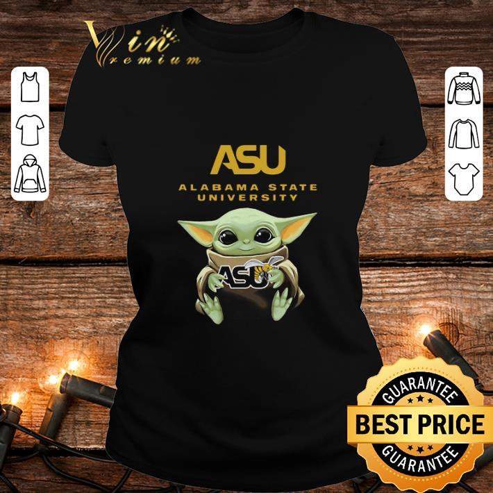 Baby Yoda Hug Alabama State University Star Wars shirt