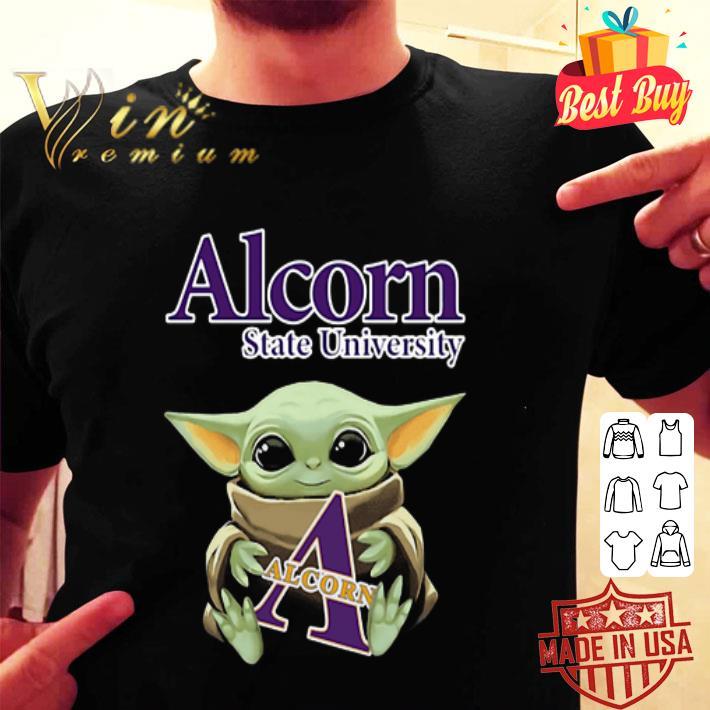 Baby Yoda Hug Alcorn State University Star Wars shirt