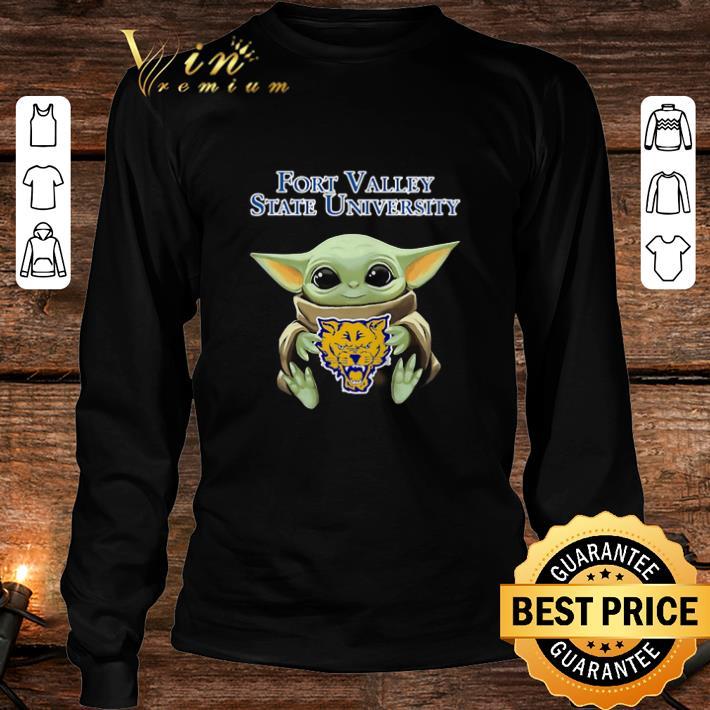 Baby Yoda Hug Fort Valley State Wildcats Star Wars shirt 3