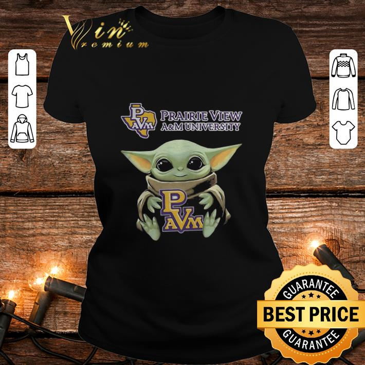 Baby Yoda Hug Prairie View A&M University Logo Star Wars shirt