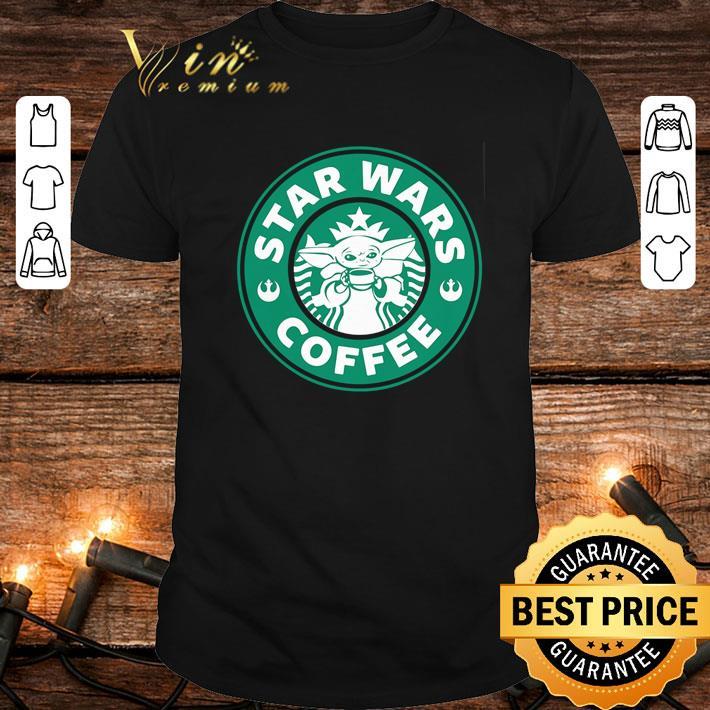 Baby Yoda Star Wars Coffee Starbucks logo shirt