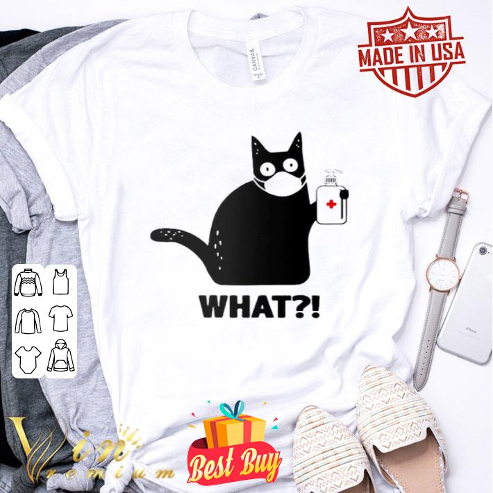 Black Cat What Coronavirus shirt