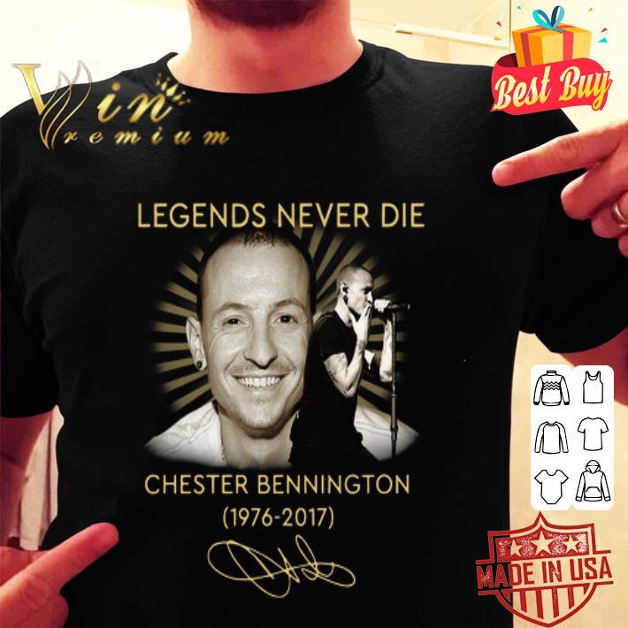 Chester Bennington Legends Never Die Signatures 1976-2017 shirt