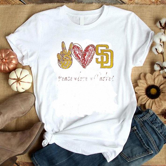 Diamond Peace Love San Diego Padres Logo shirt