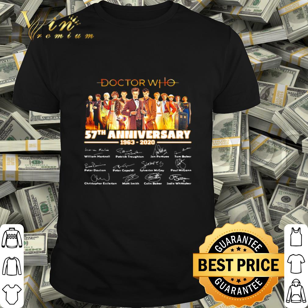 Doctor Who 57th Anniversary 1963-2020 Signatures shirt