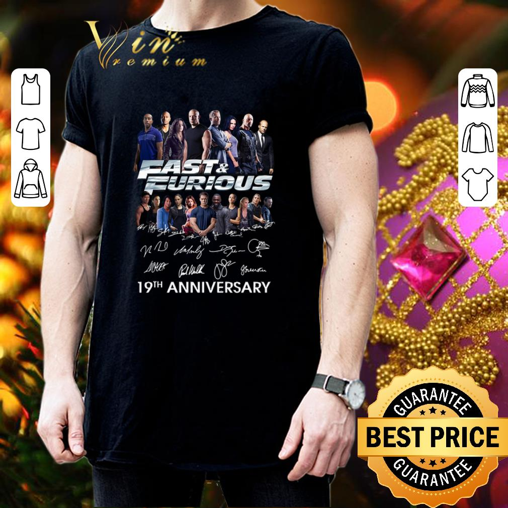 Fast and Furious 19th anniversary signatures shirt 3