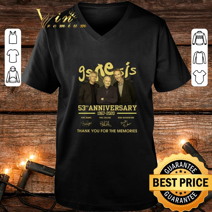 Genesis 53rd anniversary 1967-2020 signature thank you for the memories shirt