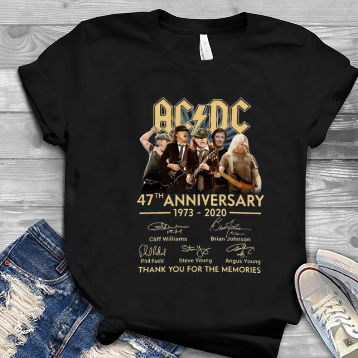 Great AC DC 47th anniversary thank you for the memories signatures shirt