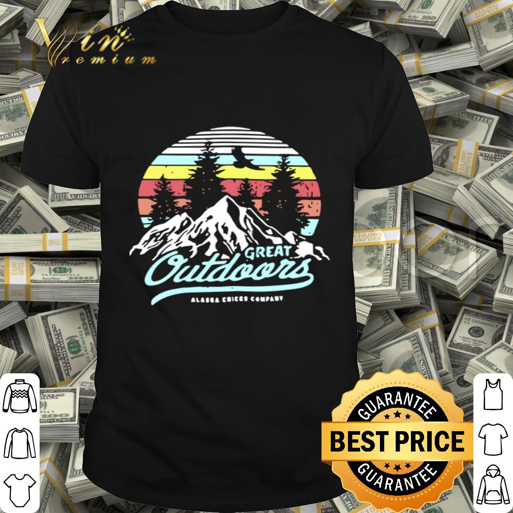 Great outdoors Alaska Chicks company vintage shirt