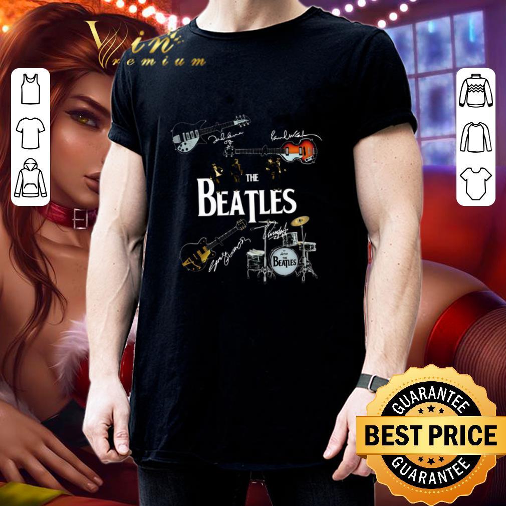 Guitars The Beatles signatures drummer shirt 3