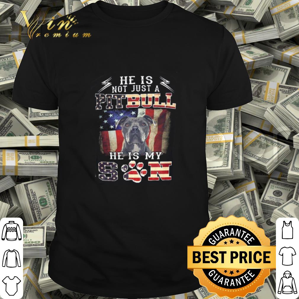 He is not just a Pitbull he is my son American flag shirt