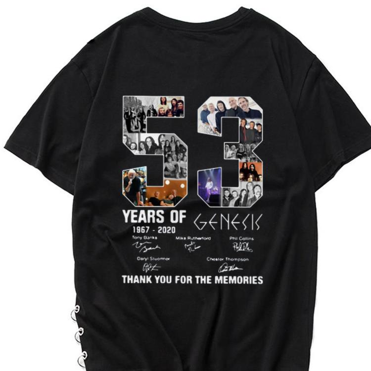 Hot 53 Years Of 1967 2020 Genesis Thank You For The Memories signatures shirt 1