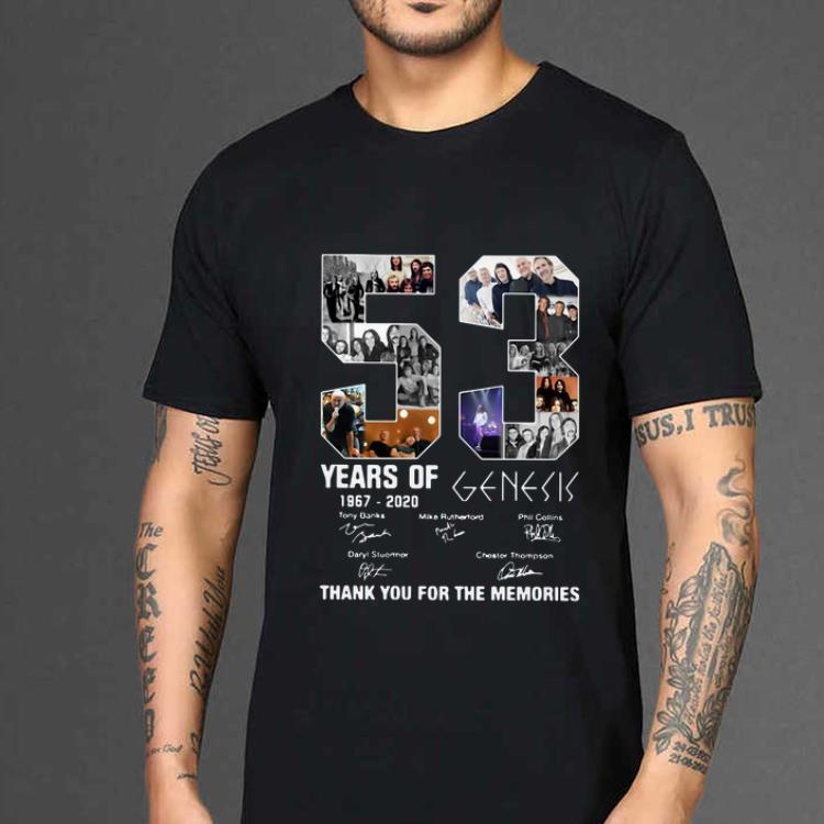 Hot 53 Years Of 1967 2020 Genesis Thank You For The Memories signatures shirt