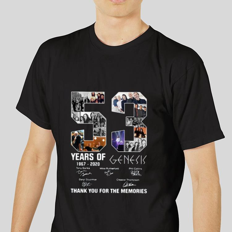 Hot 53 Years Of 1967 2020 Genesis Thank You For The Memories signatures shirt 3