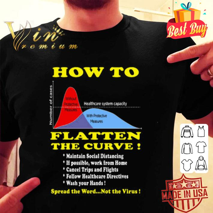 How To Flatten The Curve Spread the word not the Virus shirt