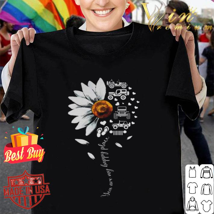 Jeep Daisy flower you are my happy place shirt