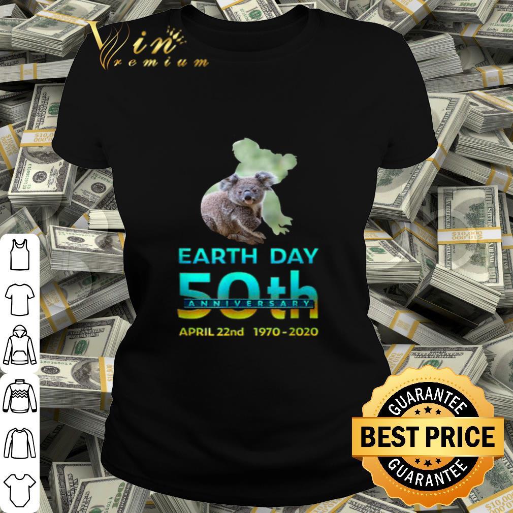 Koala Silhouette earth day 50th anniversary april 22nd 1970-2020 shirt