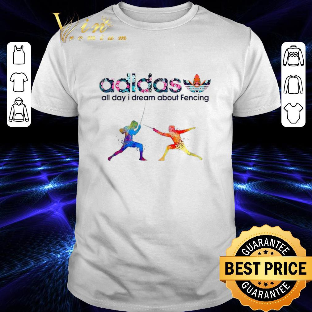 Logo Adidas All Day I Dream About Fencing shirt