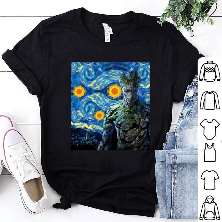 Marvel Groot Mashup Van Gogh Starry Night shirt