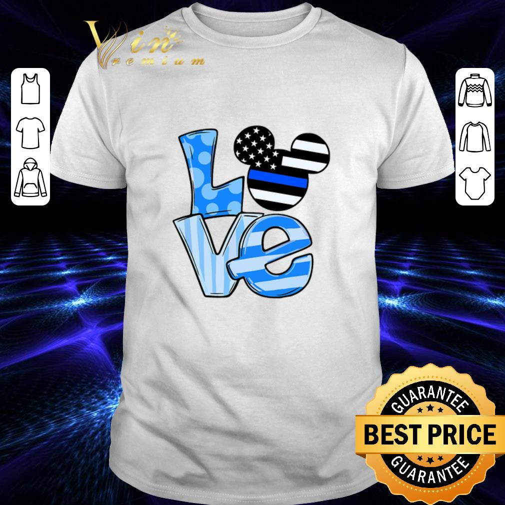 Mickey Mouse Love Thin Blue Line Flag shirt