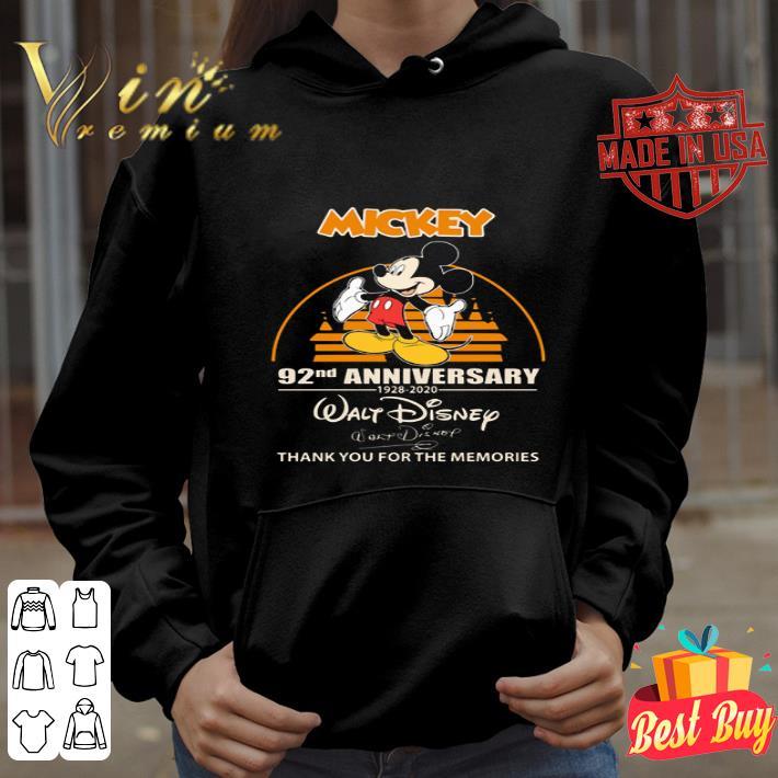 Mickey mouse 92nd Anniversary 1928 2020 Walt Disney signature shirt