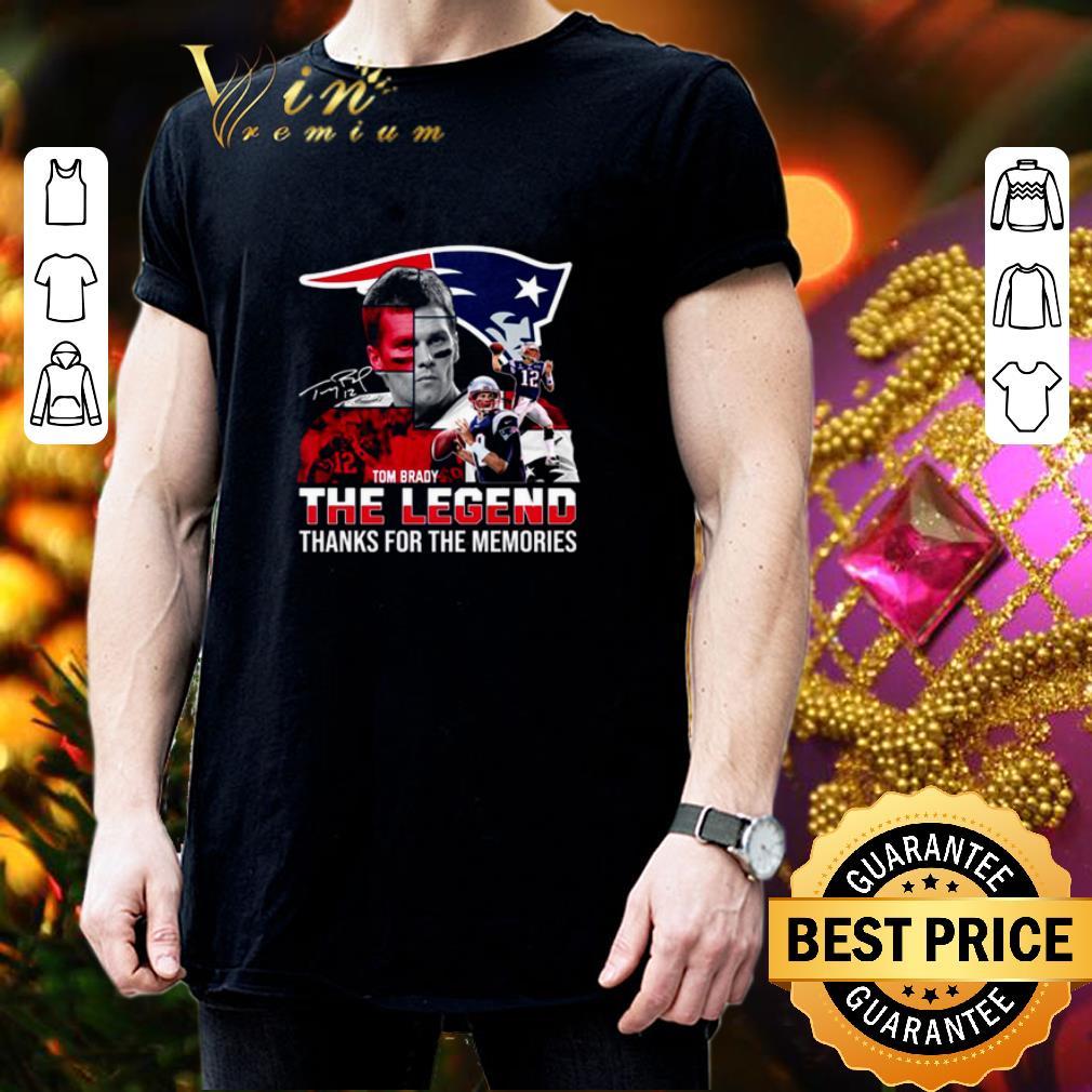 New England Patriots Tom Brady the legend thank you for the memories shirt 3