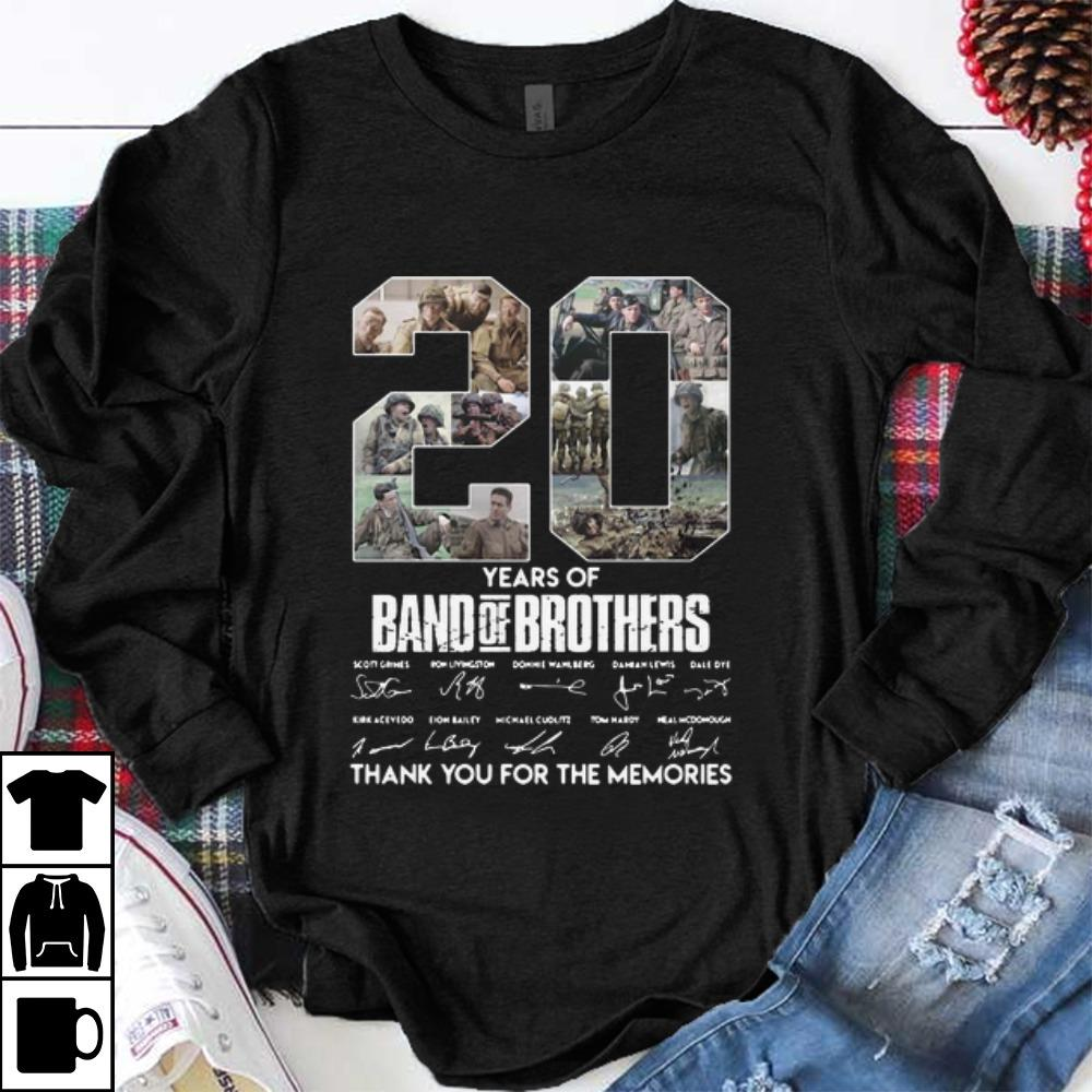 Nice 20 Years Of Band Of Brothers Thank You For The Memories Signatures shirt