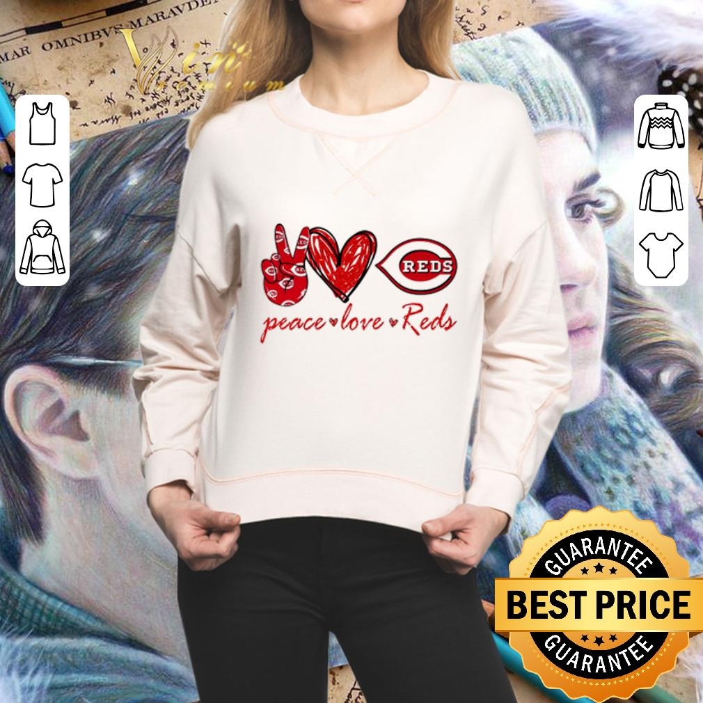 Peace love Cincinnati Reds Logo shirt