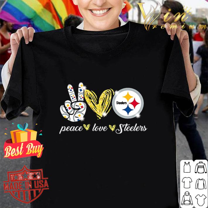 Peace love Pittsburgh Steelers Logo shirt