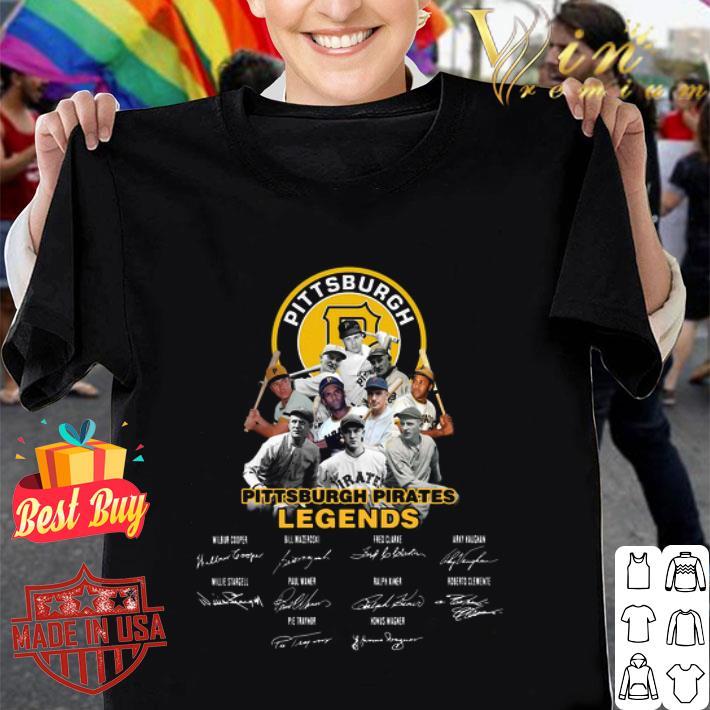 Pittsburgh Pirates logo legends signatures shirt