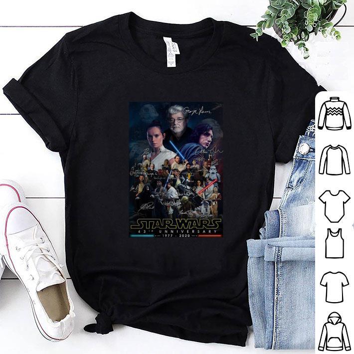Poster Star Wars 43rd Anniversary 1977-2020 Signatures shirt