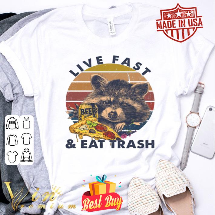 Raccon Beer Pizza Camping Live Fast And Eat Trash shirt