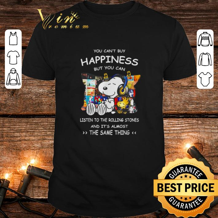 Snoopy You can't buy happiness but you can listen to The Beatles shirt 7
