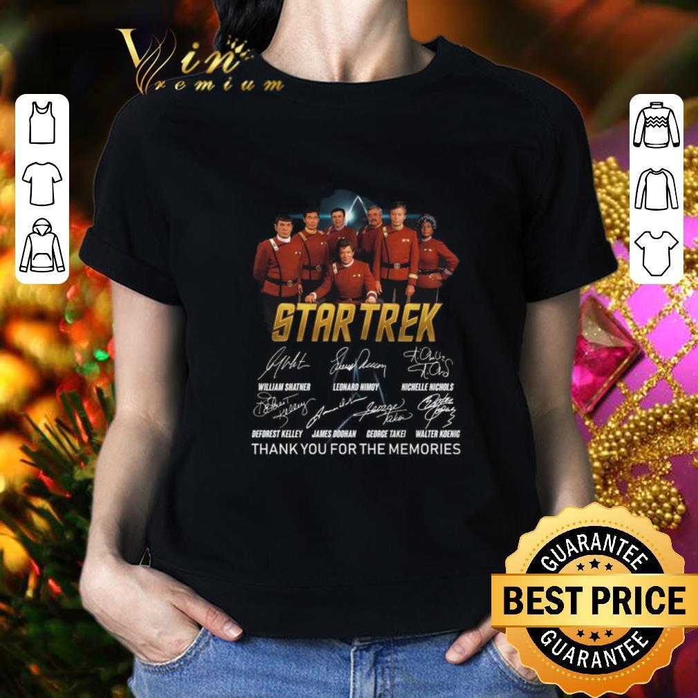 Star Trek signatures thank you for the memories shirt