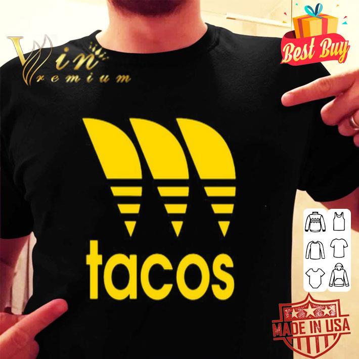 Tacos mashup Adidas logo shirt