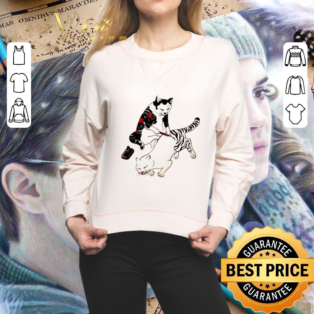 Tebori Monmon cats shirt